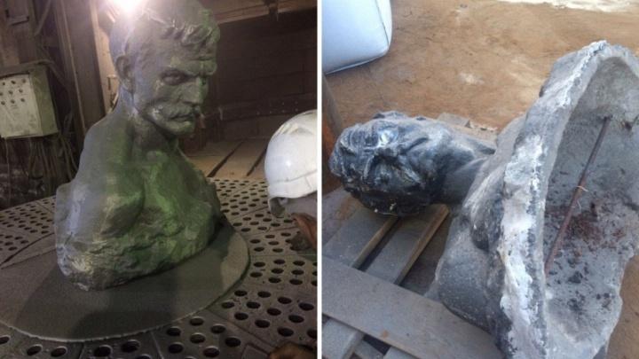 До и после: в Кургане открыли памятник Дмитрию Пичугину