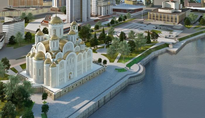 Епархия продолжает настаивать на том, что храм должны построить именно в сквере