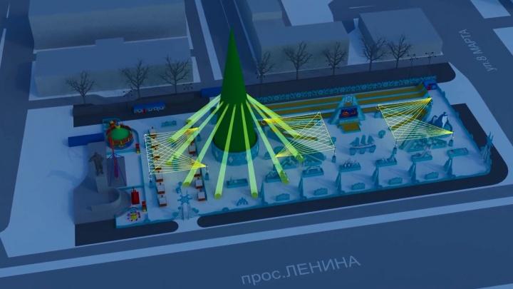 Пингвины, айсберги, океанские волны: изучаем будущий ледовый городок в Екатеринбурге по фото и видео