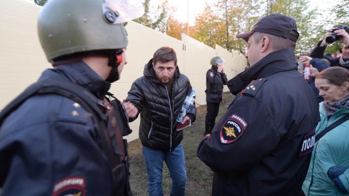 В Екатеринбурге на защитника сквера завели уголовное дело об оскорблении полицейского