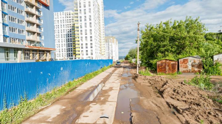 Уфимцы просят построить дорогу к новым домам возле Воскресенского храма