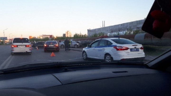 На Харьковской после столкновения иномарок два человека попали в больницу
