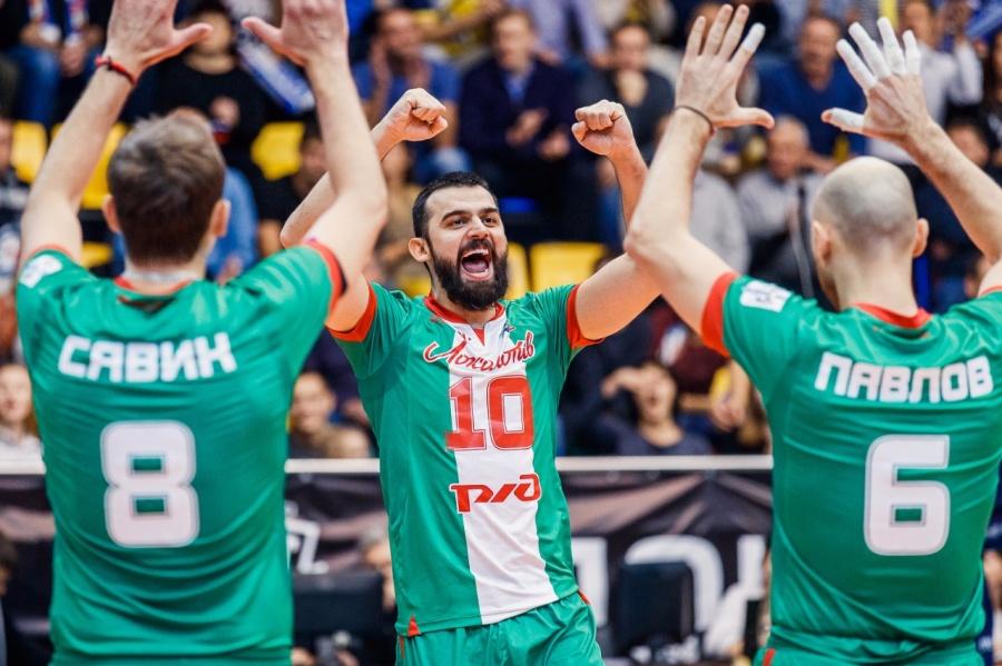 Волейбольный «Локомотив» вышел вгрупповой этап Лиги чемпионов