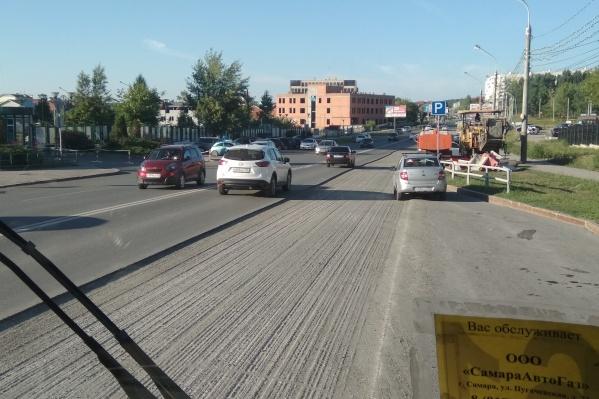 Так улица Солнечная выглядит днём