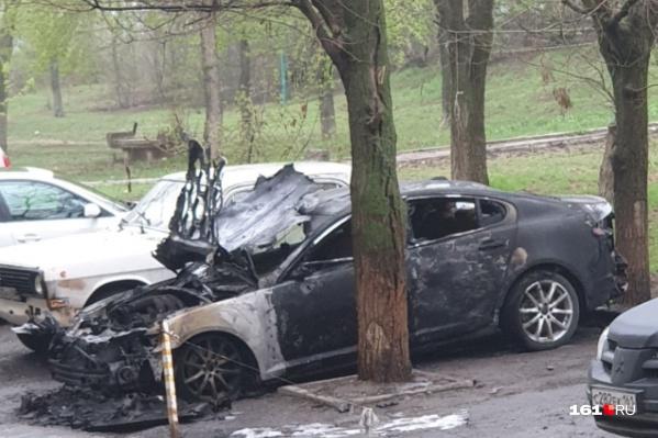 Посла пожара машину вряд ли удастся восстановить