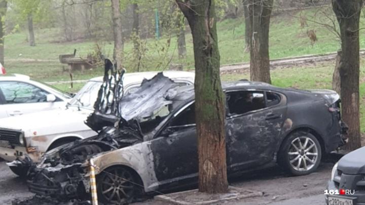 Элитная иномарка сгорела в Ростове