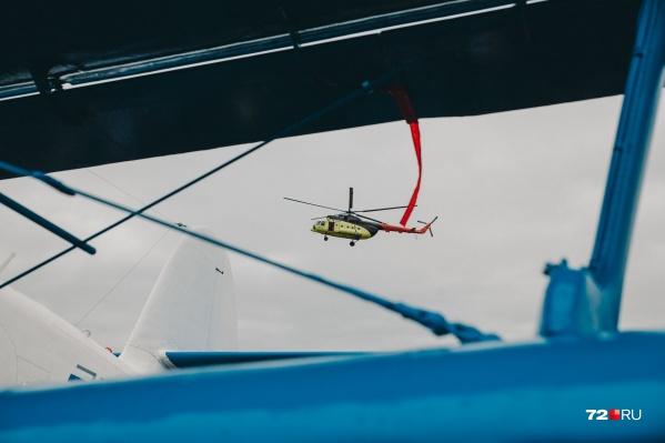 Вертолету пришлось пойти на посадку, предварительно, из-за мороза