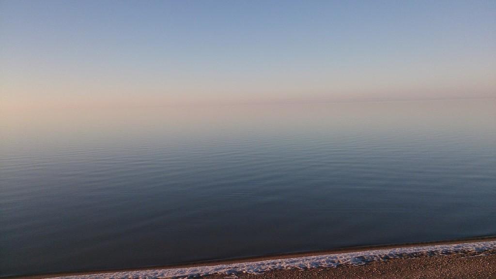 А это море зимой