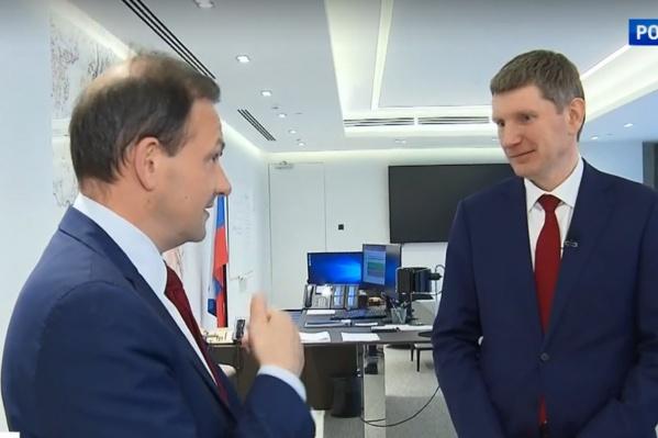 Максим Решетников дал интервью Сергею Брилеву