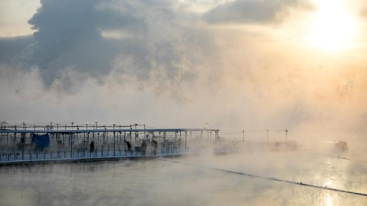 Морозы ударят по Красноярску в начале рабочей недели