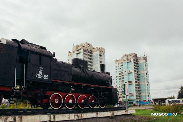 Памятник паровозу — один из главных символов Московки