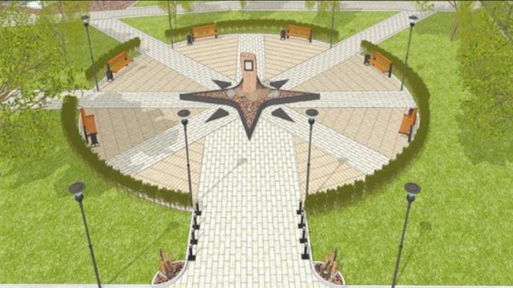 Новый сквер с площадью в виде компаса решили сделать на Тимошенкова. Смотрим эскизы