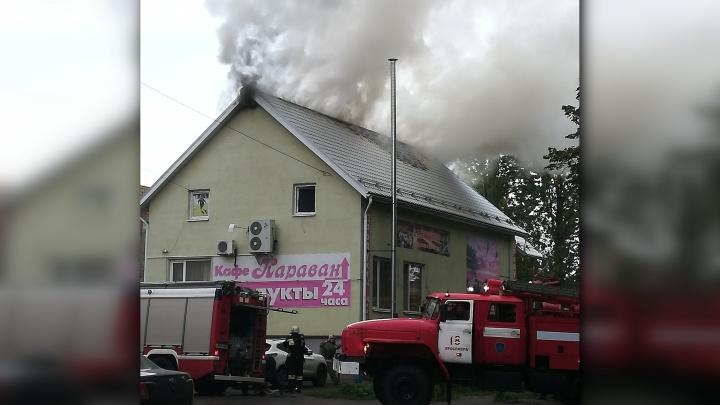 В Брагино пожар охватил кафе. Подробности