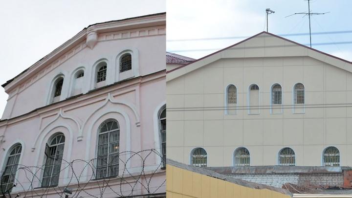 Старинное здание СИЗО у Центрального стадиона залепили навесными панелями