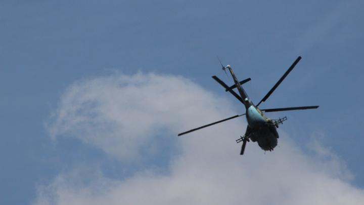 Стало известно, зачем военный вертолёт кружил над центром Новосибирска