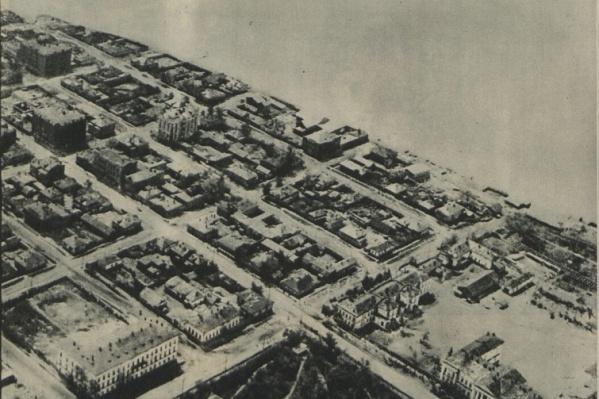 В 1932 году центр Омска выглядел с высоты именно так