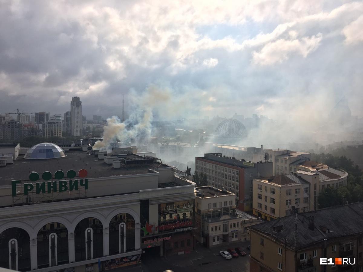 Пожар в «Гринвиче» потушили за 14 минут