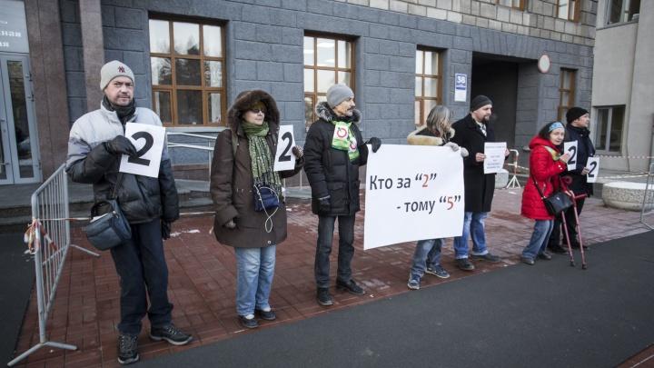 «Чтобы люди доверяли»: новосибирцы устроили пикет в поддержку новой системы выборов мэра