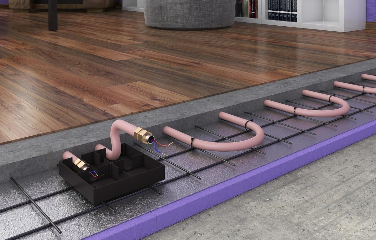 Система XL-PIPE монтируется в стяжку толщиной от 5 до 8 сантиметров