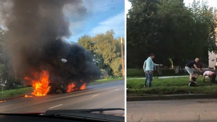В полиции рассказали о пострадавших в ДТП со сгоревшим квадроциклом