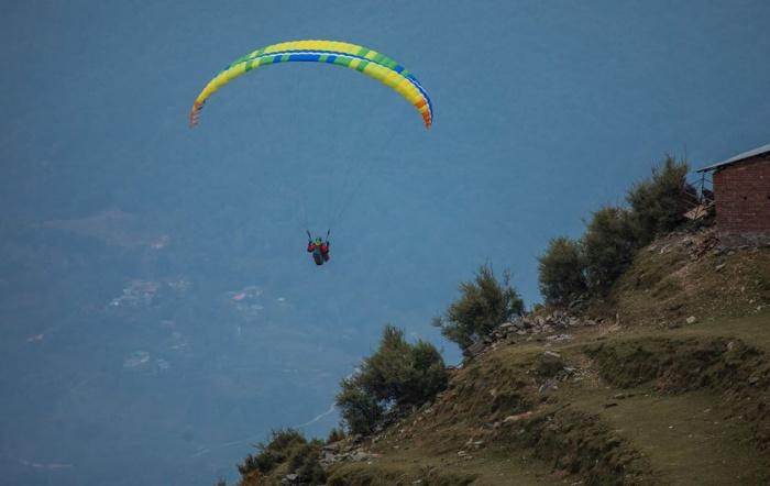 Фото после старта в Гималаях