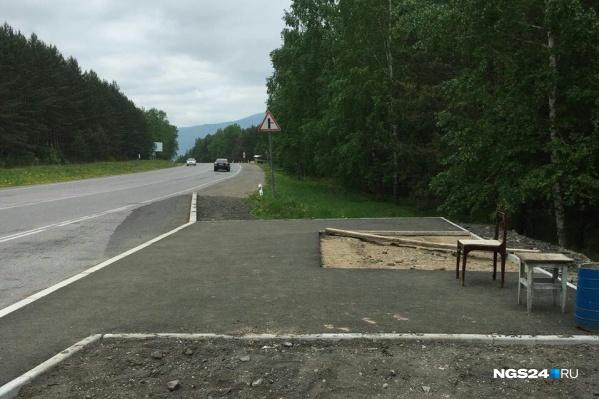 Вот так ждут автобуса до Дивногорска