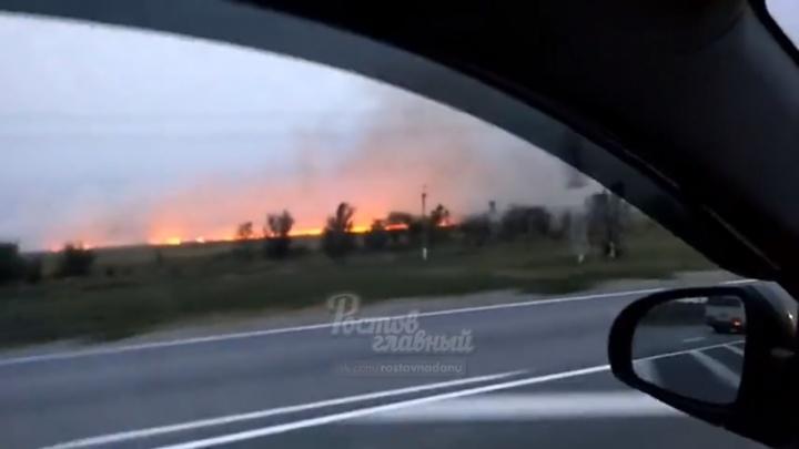 В Ростовской области вспыхнул природный пожар