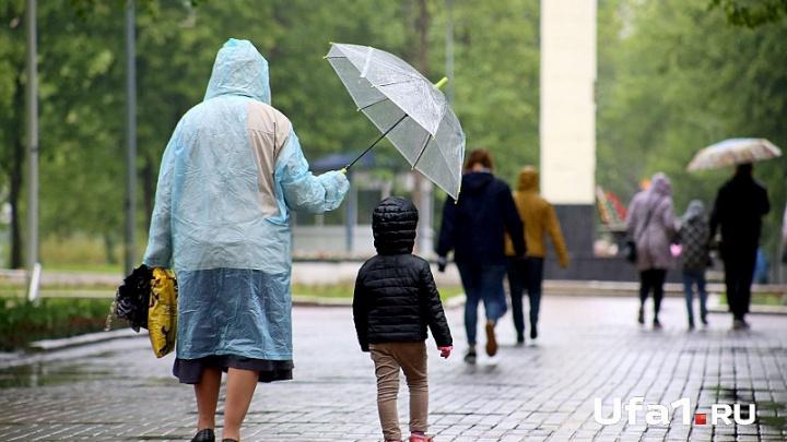 Погода в Башкирии: в понедельник  на республику обрушится ливень и град