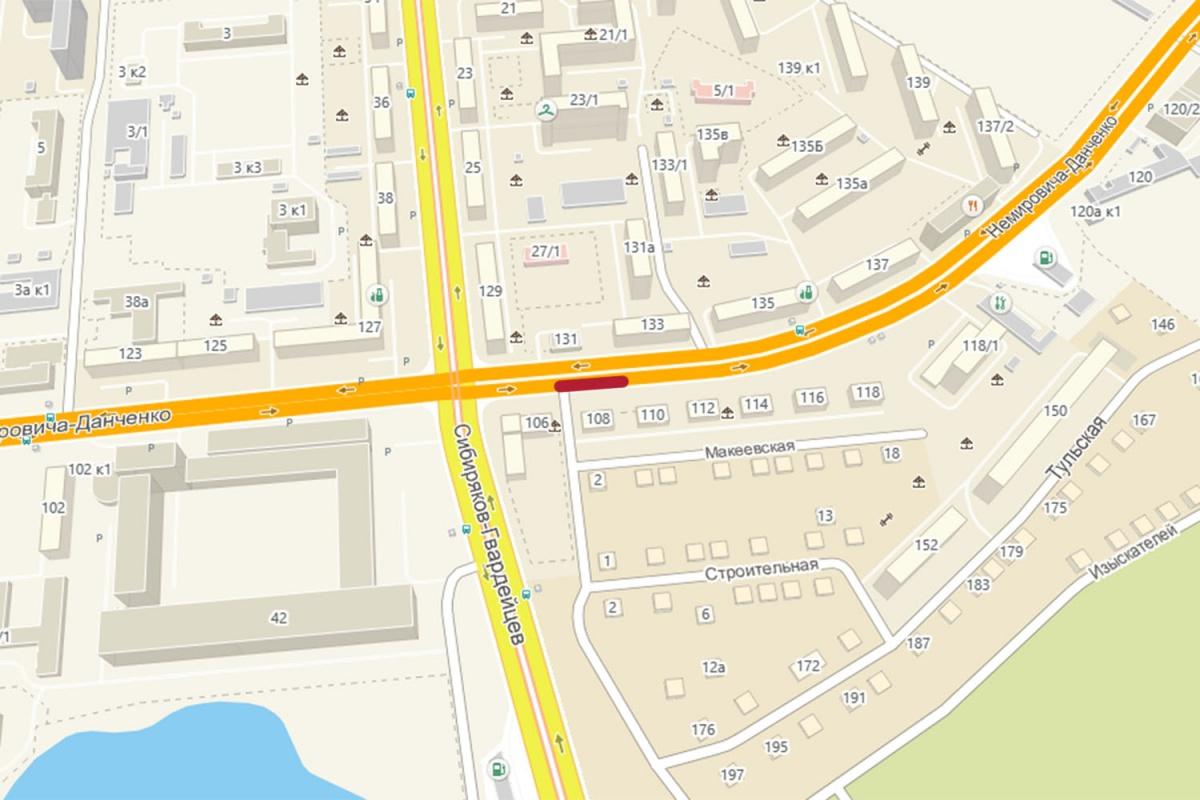 Вцентре Новосибирска сузят часть важных дорог иперекрестков