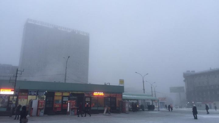 Фото: Новосибирск спрятался за мартовским туманом