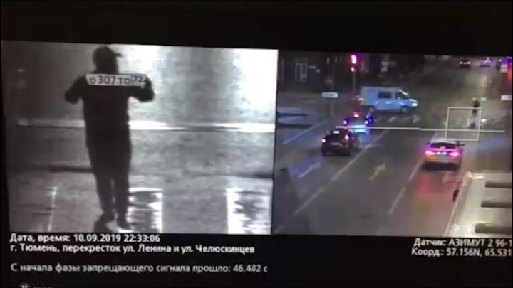 Потому что я — машина: тюменец прикинулся автомобилем и прошелся по перекрестку с госномером
