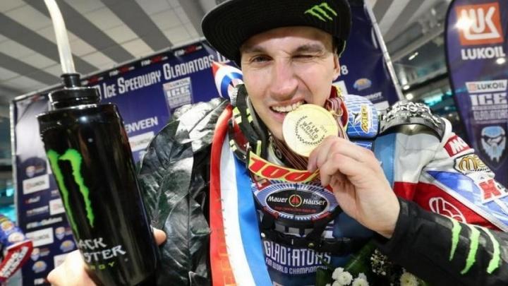 Уфимец Дмитрий Колтаков стал чемпионом мира по мотогонкам на льду