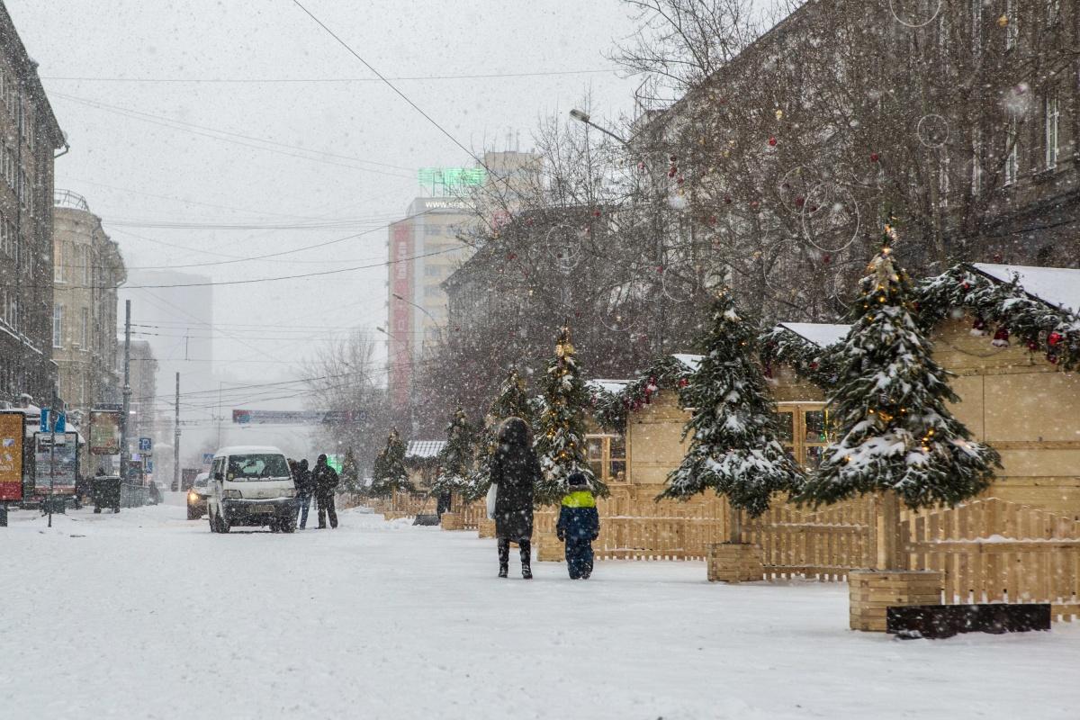В прошлом году в новогодние праздники улица Ленина была пешеходной