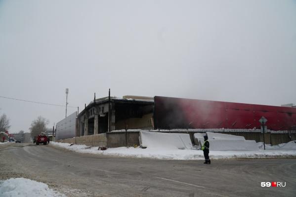 Пожар произошел в Индустриальном районе Перми