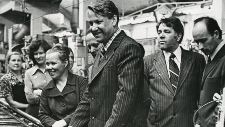 Борис Ельцин в Свердловске: рассматриваем архивные фотографии первого президента России