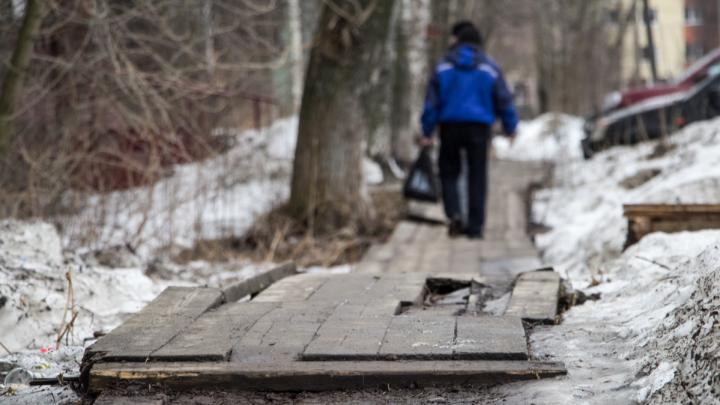До 14 декабря: где в Архангельске отремонтируют деревянные тротуары