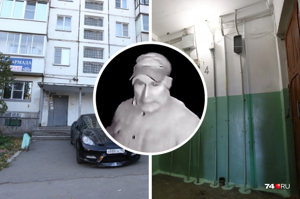 Подозреваемый попал на камеры наблюдения домофона дома на проспекте Победы