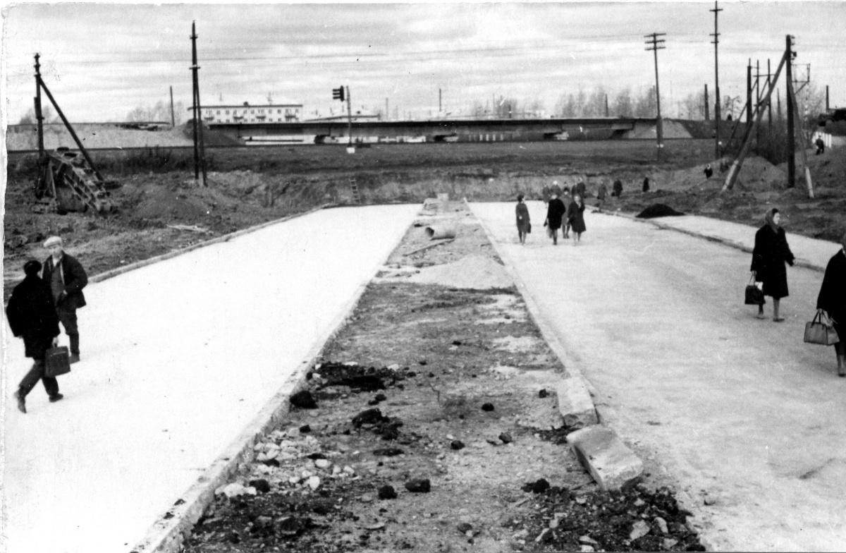 Строительство путепровода на Щербакова