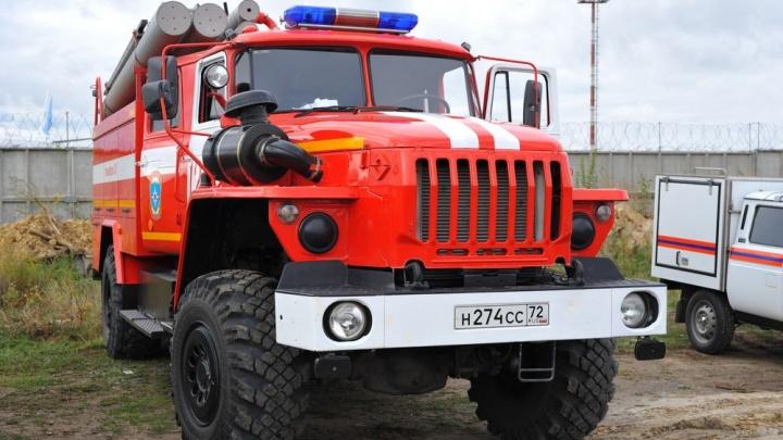 На трассе Тюмень — Омск сгорел пикап «Нива»