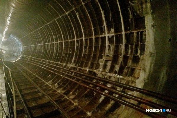 Вот так выглядел тоннель на Высотной