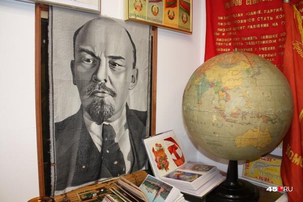 Портрет Ленина — самое популярное изображение, которое можно встретить в музее