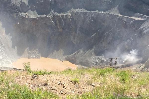Вот как выглядит кратер карьера сейчас