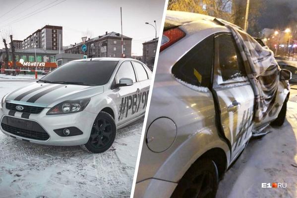 Машина Льва до и после ДТП