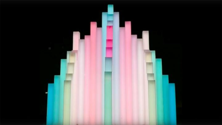 На Копылова сделали световой каскадный фонтан