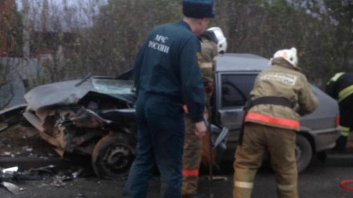 На въезде в Екатеринбург скопилась семибалльная пробка из-за аварии