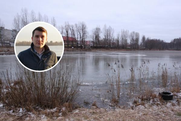 Леонид Мельников вытащил из пруда двоих мальчишек на коньках, провалившихся под лед