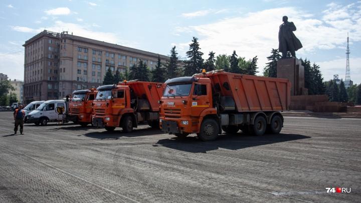 Дорожная Революция: на центральной площади Челябинска начали менять асфальт