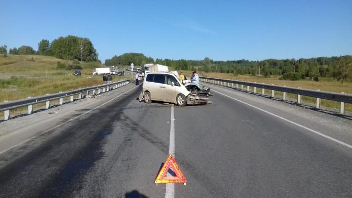 Выехавший на встречку грузовик устроил смертельную аварию на трассе под Новосибирском