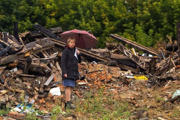 Елена Руфф жила в доме на Бронной около 20 лет. В апреле 2017 года он сгорел