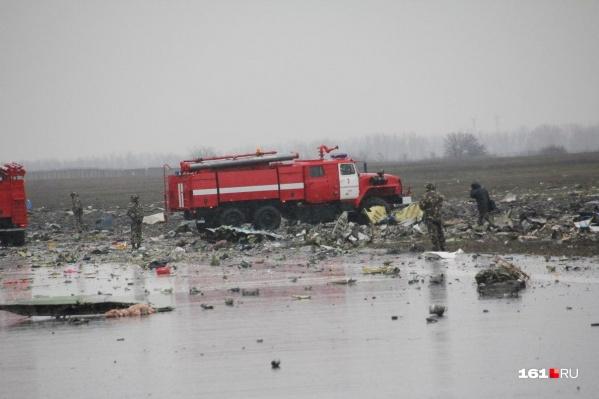 Самолет рухнул рядом со взлетной полосой